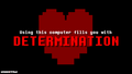 Determination Undertale PC wallpaper