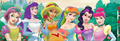 Disney Princesses in My Little Pony colors - classic-disney fan art