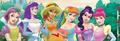 Disney Princesses in My Little Pony colors - classic-disney fan art