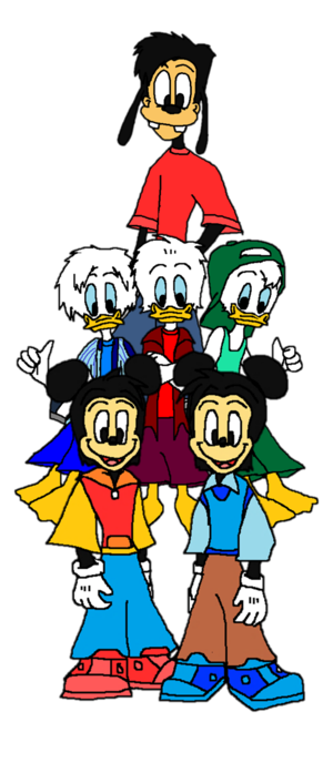 Disney s Morty  Ferdie  Huey  Dewey  Louie and Max...