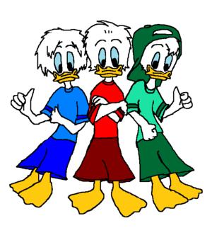 disney s Quack Pack Huey Dewey and Louie bebek Hockey