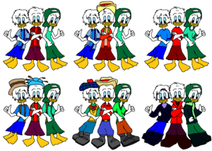 Disney s Quack Pack Huey Dewey and Louie eend Outfits