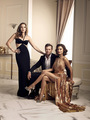 Dynasty Crystal Flores, Fallon and Blake Carrington Season 1 Official Picture
