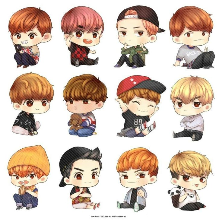 Exo Images Exo Chibi Fanart Hd Wallpaper And Background Photos