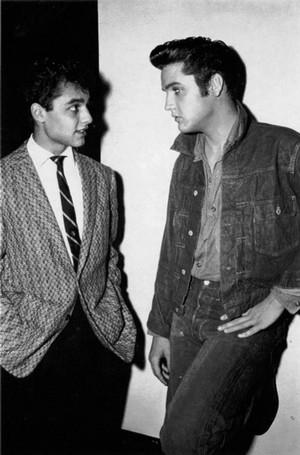 Elvis Presley And Sal Mineo