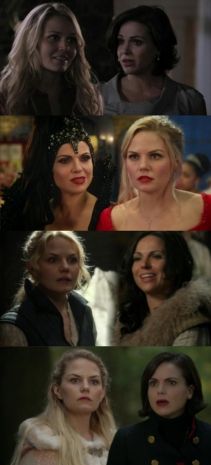 Emma and Regina finding each other in every realm