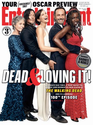 Entertainment Weekly Cover: Dead and Loving It! - McBride, Reedus, Cohan, lincoln and Gurira