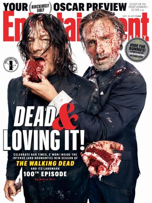 Entertainment Weekly Cover: Dead and Loving It! - Norman Reedus and Andrew لنکن