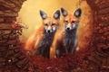 Foxes - animals photo