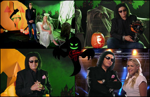 Gene Simmons and Busy Philipps make pumpkins 🎃(Michaels 2017)