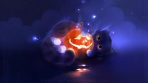 हैलोवीन cat