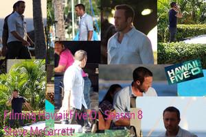 Hawaii Five 0 - Season 8 - Filming - Film Set - Steve McGarrett