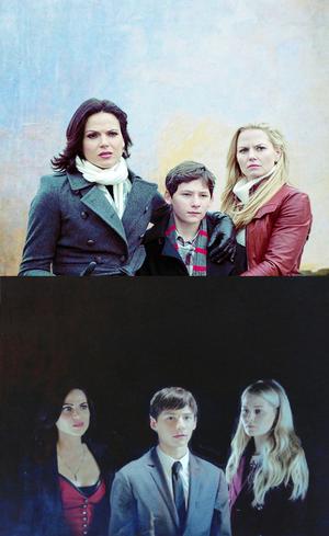 Henry, Emma and Regina
