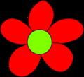 Hippie Flower Power Symbol (Red Flower) - the-60s photo
