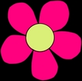 Hippie Flower Power Symbol (Pink Flower) - the-60s photo