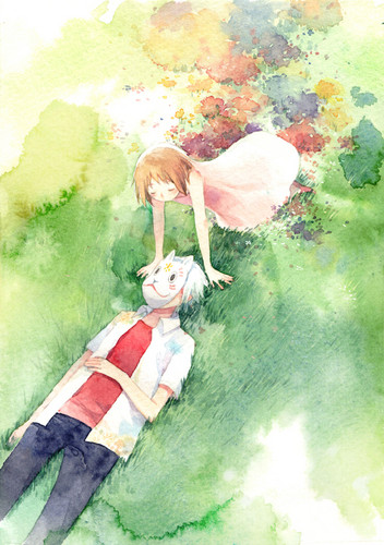 Hotarubi no Mori e wallpaper entitled Hotaru and Gin