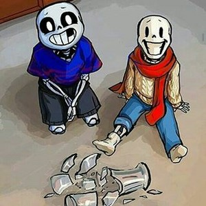 Little Sans and little Papyrus broke a Glass Vase