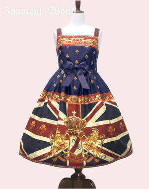 IW Union Jack High Waist JSK navy