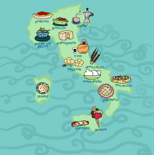 Italian खाना Map
