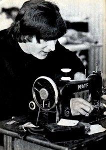 John uses a sewing machine
