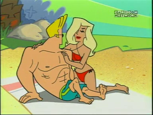 Johnny Bravo and the Girl of His Dreams at the bờ biển, bãi biển
