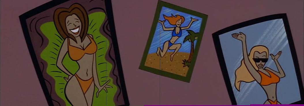 Johnny Bravo's Women in beachwear Posters