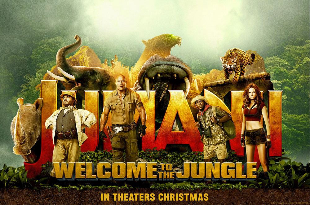 Image result for jumanji welcome to the jungle poster