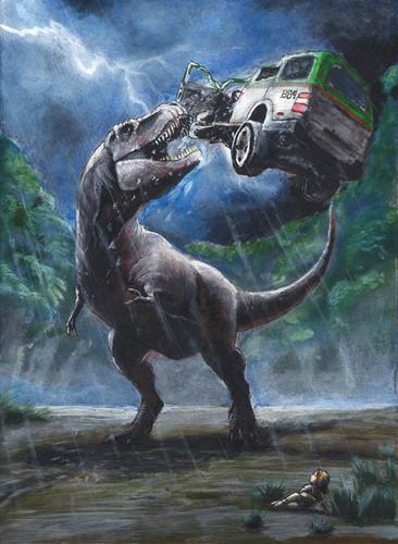 pelikula wolpeyper called Jurassic Park