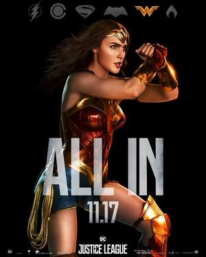 Justice League (2017) Poster - Gal Gadot as Wonder Woman