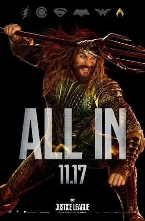 Justice League (2017) Poster - Jason Momoa as Aquaman