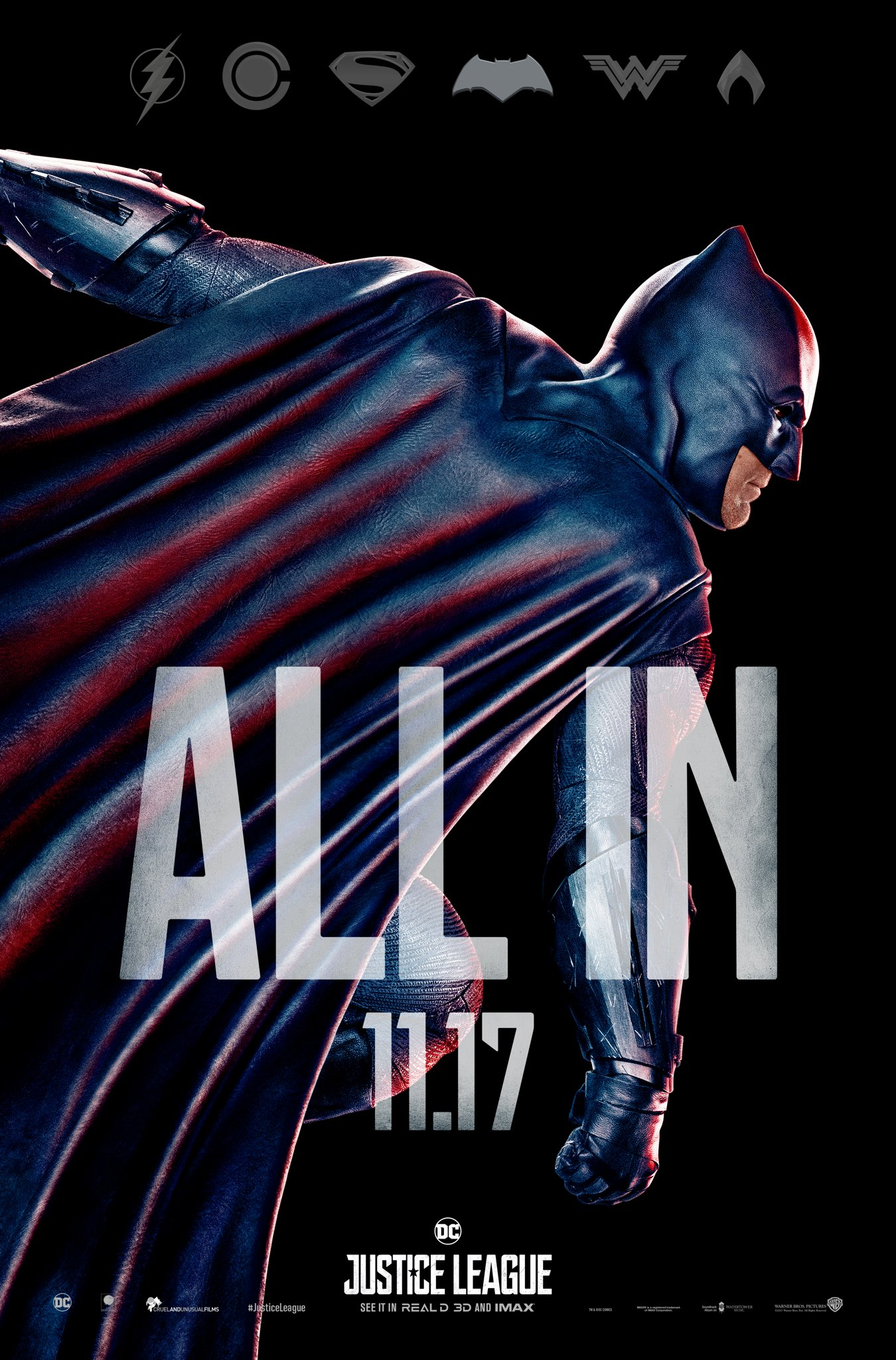 justice league movie images justice league - all in poster - batman