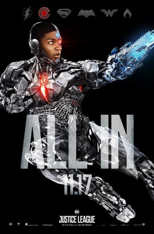 Justice League - All In Poster - Cyborg