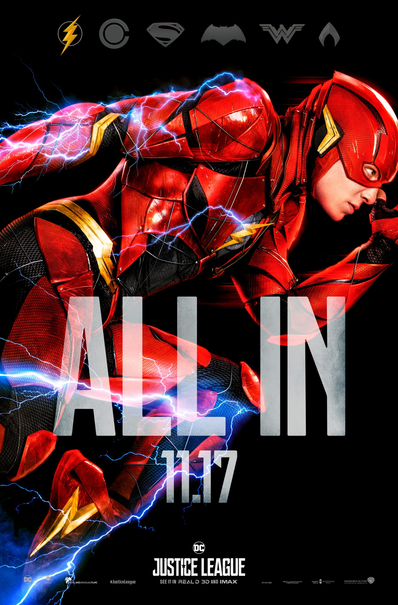 Justice League Movie Picha Justice League All In Poster