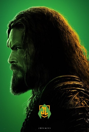 Justice League - Character perfil Poster - Jason Momoa as Aquaman
