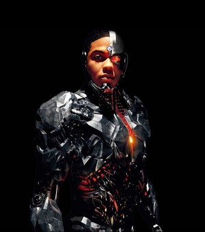 Justice League Portrait - 線, レイ Fisher as Cyborg