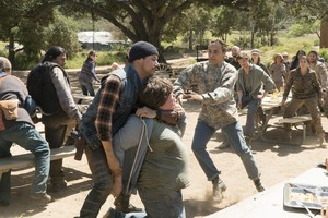Justin Rain as Crazy Dog in Fear the Walking Dead