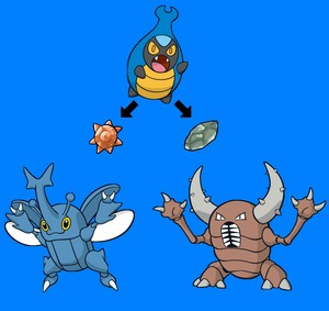 Karrablast's Future Evolution With Sun Stone oder Moon Stone In 8°Generation