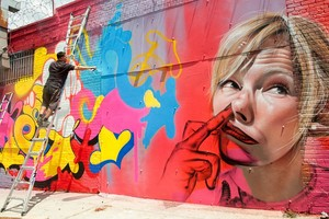 Kelli Giddish straat Art! (by Such and Sipros)