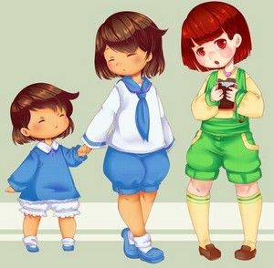 Kitty-Cat!Frisk, Little Pup!Frisk, and Ham-Ham!Chara