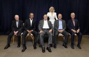 Lady Gaga w/ Past Presidents