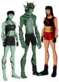 Lagoon Boy Supergirl and Swamp Girl - young-justice-ocs photo