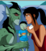 Lagoon Boy and Supergirl with their daughter - young-justice-ocs icon