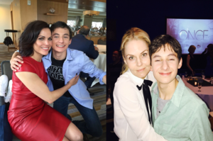 Lana and Jennifer with Jared Gilmore