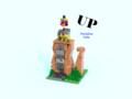 Lego Up-Paradise Falls - pixar fan art