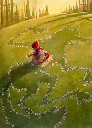 Little Red Riding capuz, capa