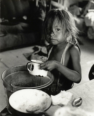 Lunch Time 1966 (Northern Cheyenne Lame deer Reservation, Montana)