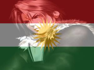 MY LOVE KURDISTAN FLAG