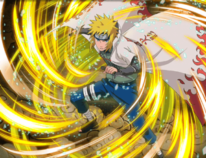 Minato Namikaze Rapid Lightning jutsu