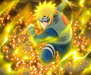 Minato Namikaze Yellow Flash of the Leaf