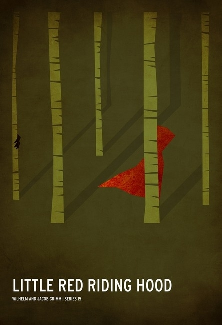 Minimalist Little Red Riding kap